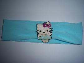 Baby haarbandje hello kitty blauw