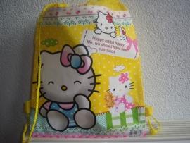 Kinder gym/zwemtas Hello Kitty Geel