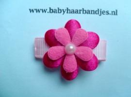 Lok speldje fuchsia/roze bloemetje.