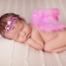 Roze engelen vleugels met bijpassende super smalle haarband.