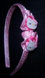 Smalle licht roze diadeem met Hello Kitty .