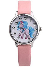 Unicorn Horloge roze band.