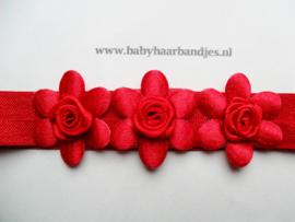 Voor de allerkleinste rood haabandje met bloemetjes.
