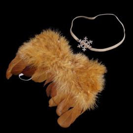 Gouden engelen vleugels met bijpassend haarbandje.