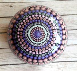 Mandala Steen, Meditatie Steen, Dankbaarheid Steen, Ohm Teken, Dot Art, Decoratie Steen, Huisdecoratie, Yoga, Spiritueel Kado, Mandala #55