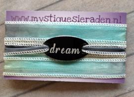 Boho zijden wikkelarmband DREAM