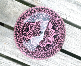 Mandala Steen, Meditatie Steen, Henna Steen, Mehndi,Kunst Steen, Dot Art, Decoratie Steen, Huisdecoratie, Yoga, Spiritueel Kado, Mandala #44