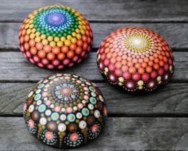 Chakra Mandala Steen, 7 Chakra's, Meditatie Steen, Dankbaarheid Steen, Decoratie Steen, Huisdecoratie, Yoga, Kerstkado, Mandala