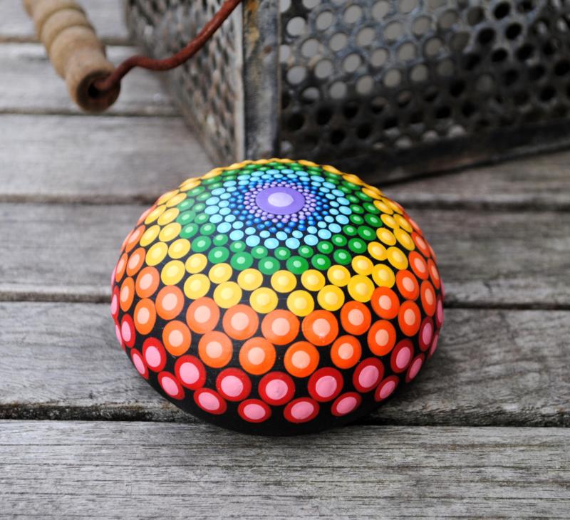 Chakra mandala steen 7  chakra kleuren