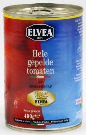 ELVEA  hele gepelde tomaten - 400 gr.