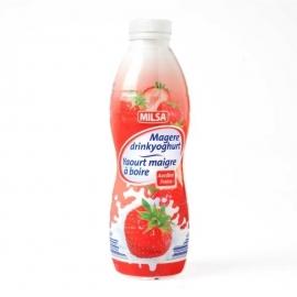 Magere drinkyoghurt met aardbeismaak - 750 ml.