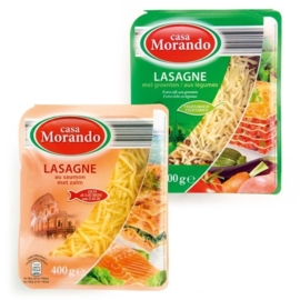 CASA MORANDO®  Zalmlasagne of groentelasagne - 400 gr.