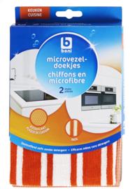 BONI SELECTION  doekjes keuken, 100% microvezel - 2 stuks