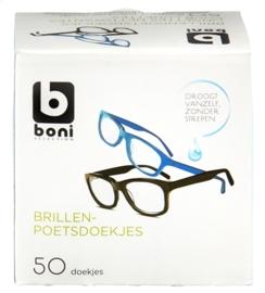 BONI SELECTION  brillenpoetsdoekjes - 50 stuks/doosje.