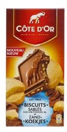 COTE D`OR  melkchocolade met zandkoekjes - 180gr.