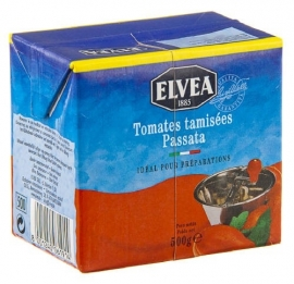 ELVEA  Passata gezeefde tomaten - 500 gr.