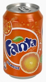 FANTA  Orange sinaasappellimonade (blik) - 33 cl.