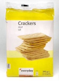 EVERYDAY gezouten crackers - 3 x 100 gr