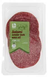 BONI SELECTION salami zonder look, sneden  -  200 gr