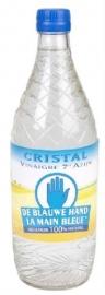 DE BLAUWE HAND Cristal azijn 7°  -  75 cl, in glasverpakking.