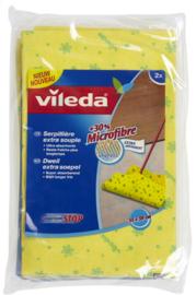 VILEDA  gele dweil 30% microvezel  - 2 stuks.