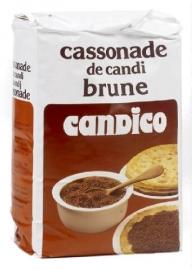CANDICO  cassonade donker, 1 kg.