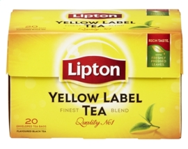 LIPTON  Yellow Label thee - 20 builtjes.