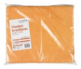 EVERYDAY  oranje dweilen 60 x 70 cm  - 5 stuks.