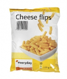 EVERYDAY Cheese flips kaassnack - 125 gr