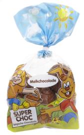 PAASEIEREN melkchocolade in zak  - 250 gr.