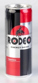 RODEO - Energy drink ; in blik - 25 cl.