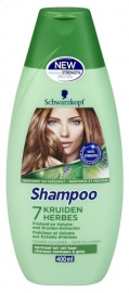 SCHWARZKOPF  shampoo 7 kruiden - 400 ml.