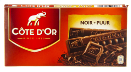 CÔTE D'OR  tablet noir puur  -  2 x 200 gr.