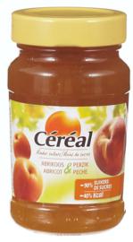 CÉRÉAL  confituur abrikoos perzik  -  270 gr.