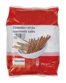 EVERYDAY gezouten sticks - 250 gr