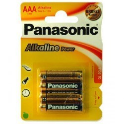 Panasonic  AAA alkaline batterijen - 4 stuks