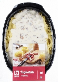 BONI SELECTION  Tagliatelle carbonara - 450 gr.