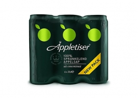 Appletiser 6 x 25 cl, in blik