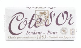 COTE D'OR  tablet pure chocolade - 150 gr.