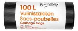 EVERYDAY  vuilzak 100L  -  10stuks/rol