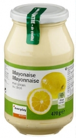 EVERYDAY  mayonaise met citroen - 470 gr, 500 ml.