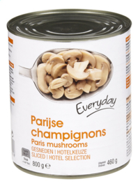 EVERYDAY  Parijse champignons gesneden in blik - 800 gr.