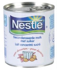 NESTLE  gecondenseerde melk suike,r 305 ml.