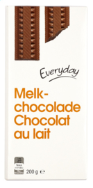 EVERYDAY  melkchocolade tablet  -  200 gr.