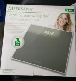 1 glazen personenweegschaal Medisana  -  batterijen inclusief.