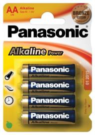 Panasonic  AA alkaline batterijen - 4 stuks