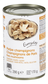 EVERYDAY  Parijse champignons gesneden in blik - 290 gr.