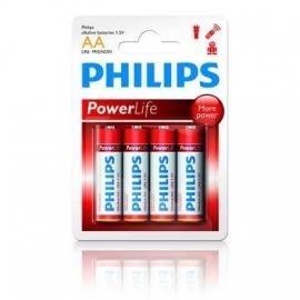 PHILIPS  powerlife batterijen type AA, 4 stuks.