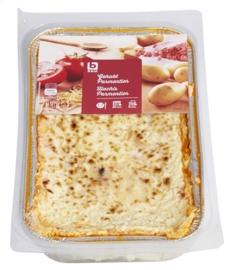 Gehakt bedekt met aardappelpuree, ui, gegratineerd met kaas - Gehakt Parmentier - 1 Kg netto.
