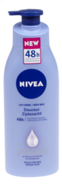 NIVEA  Body Milk zijdezacht + pomp   -   400 ml